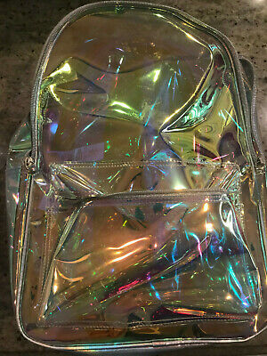 Pottery Barn Teen Clearly There Iridescent Backpack NEW