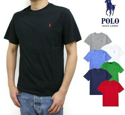 Brand New Men's Ralph Lauren Basic T-Shirt Crew Neck Tee Short Sleeve Tee