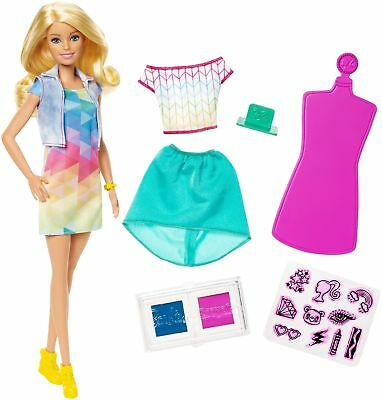 Barbie FRP05 Crayola Colour Stamp Fashion, Multi