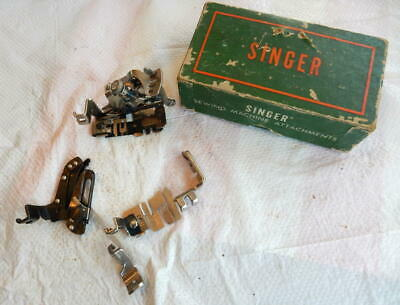 Vintage Singer Sewing Machine Feet with Box Excellent Condition Feet