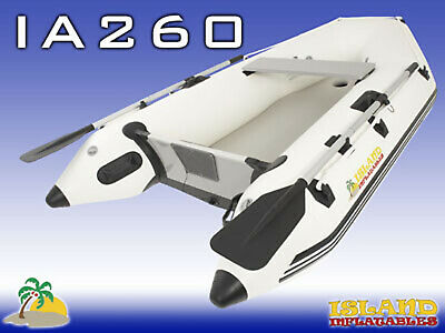 2.6m ISLAND INFLATABLE BOAT ✱ AIR-FLOOR ✱ Durable Thermo Welded Seams 3YR-W