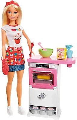 Barbie FHP57 Careers Baking Feature Doll and Playset Colourful Accessories, B...