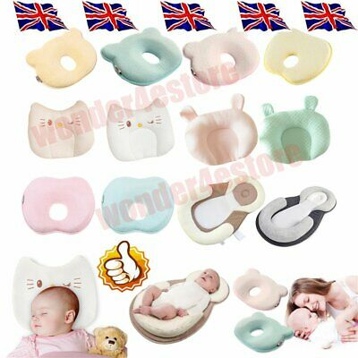 Infant Baby Newborn Memory Foam Pillow Prevent Flat Head Anti Roll Support %%