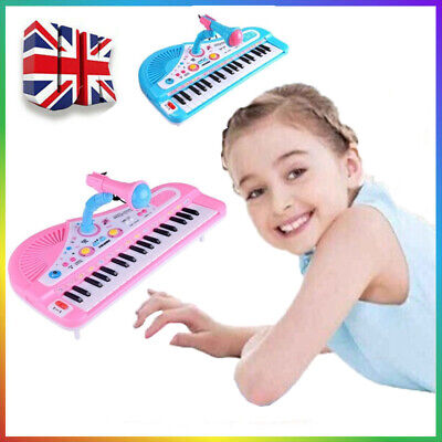 Kids Electronic Keyboard Childrens Musical Piano Toy 37 Keys Microphone