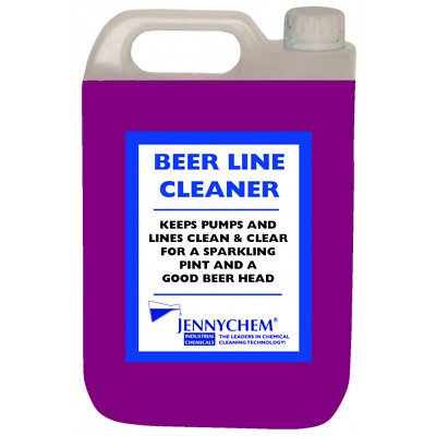 Purple Beer Line Cleaner - Pub Ale House Draft Beer Lager Hose Pipe Clean 5L New