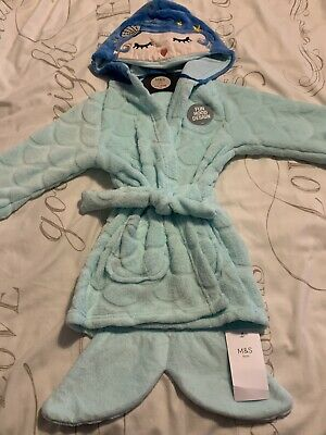 Girls M&S Mermaid Dressing Gown 18-24 Months **Brand New** Marks & Spencer