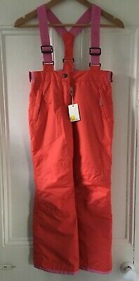 Mini Boden Kids Girls Red Pink Ski Snowboard Trousers Salopettes 9-10 Years BNWT