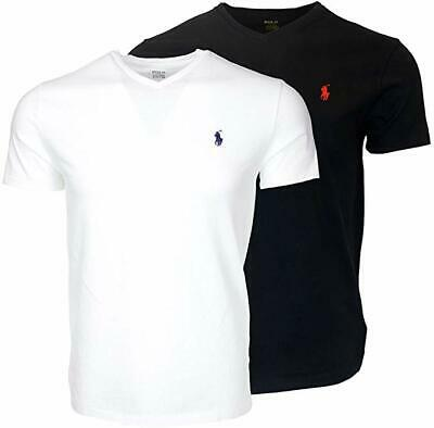 Men's Ralph Lauren T-Shirt Tee Short Sleeve Tee  V Neck