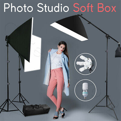 3425W Photography Studio 5 Head Softbox Continuous Lighting Boom Arm Stand Kit