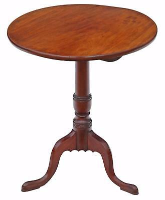 Antique Georgian mahogany tilt top supper table wine
