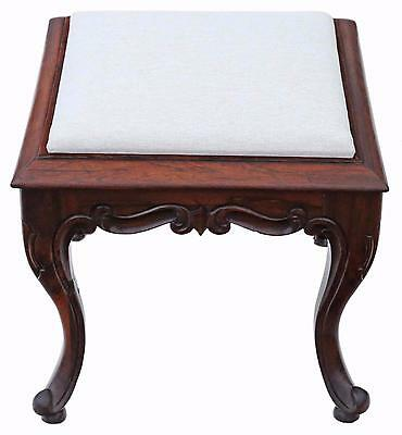 Antique rare quality Victorian C1850 - 1870 solid rosewood stool seat foot
