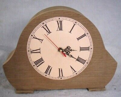 Vintage 1950-60s Smiths Enfield UP-Cycled Wooden Mantel Clock,Digital Conversion