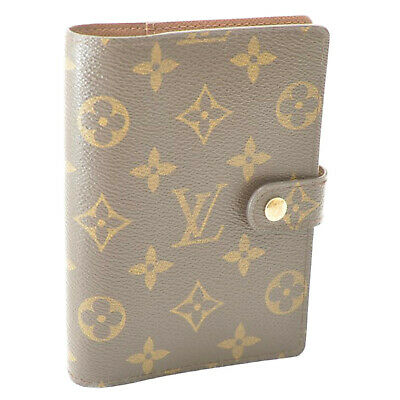 LOUIS VUITTON Monogram Agenda PM Day Planner Cover R20005 LV Auth cr374
