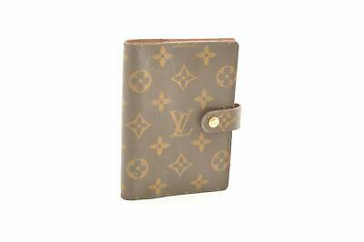 LOUIS VUITTON Monogram Agenda PM Day Planner Cover R20005 LV Auth cr373
