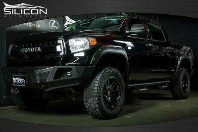 2017 Toyota Tundra PLATINUM LIFTED 17 TUNDRA PLATINUM NAV ROOF REAR CAM AC/HEATED SEAT LEATHER TRD PRO EXHAUST