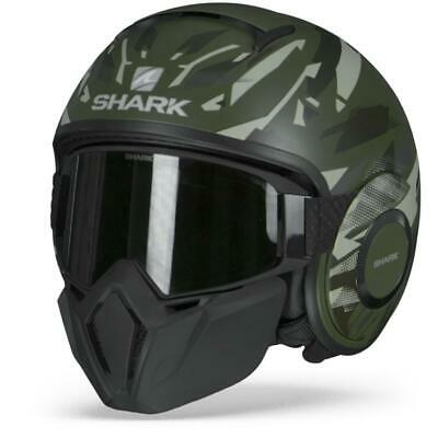 Noir//Orange L Shark Casque moto STREET DRAK KANHJI MAT KOS