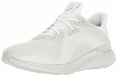 Adidas Mens Alphabounce Em M Hight Top, White/Metallic Silver/Legacy, Size 7.5 8