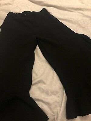 Girls River Island Black Trousers Age 11/12
