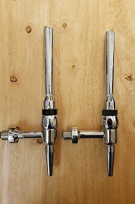 New 2x Chrome Beer Tap Handle, Home Bar Man Cave