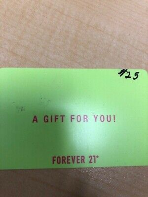 Forever 21 Gift Card - $25.00 VALUE * FREE SHIPPING *