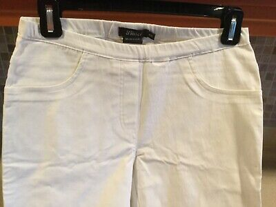 Pure Amici White Stretch Pants Pull On women's Sz XS NWOT