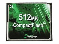 MicroMemory Flash memory card 512 MB CompactFlash MMCF/512