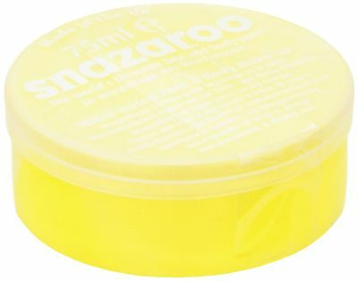 Snazaroo 75 ml Pot Body and Face Paint (Bright Yellow) Bright Yellow