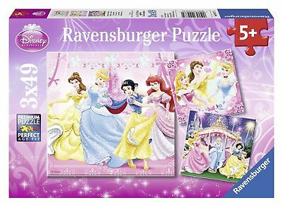 Disney Princess Ravensburger 09277 Jigsaw Puzzles 49 Pieces Set of 3 Puzzles ...