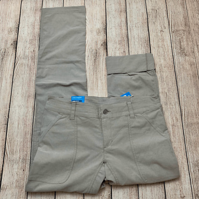 Columbia Women's Size 6 Long Pilsner Peak Truffle Oxford Convertible Pants NWT