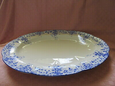 "Shelley Bone China, England, Dainty Blue Pattern , 13"" Oval Platter - Vgc"