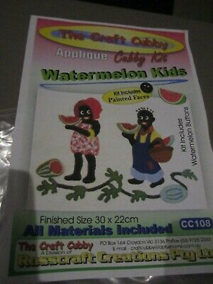 Applique Cubby Kit Watermelon Kids - never used complete