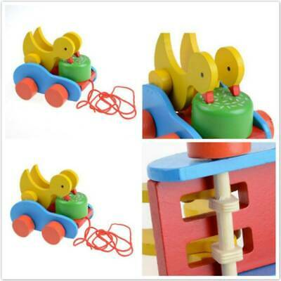 Early Explorer Cartoon Animal Car Drag Rope Toys for Toddler Baby Learn to Walk