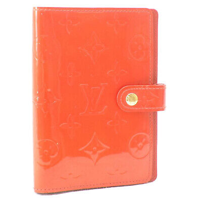 LOUIS VUITTON Monogram Vernis Agenda PM Rouge Day Planner Cover R21003 oh107