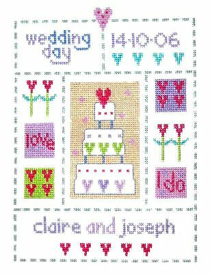 UNITED IN MARRIAGE COUNTED CROSS STITCH KIT 14 COUNT AIDA 63x50CM
