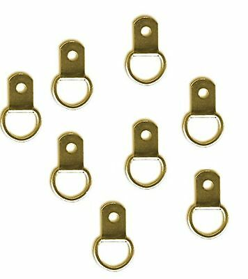 Bulk Hardware BH02824 EB Picture Mirror Frame Hanging D Ring - Small, Brass P...