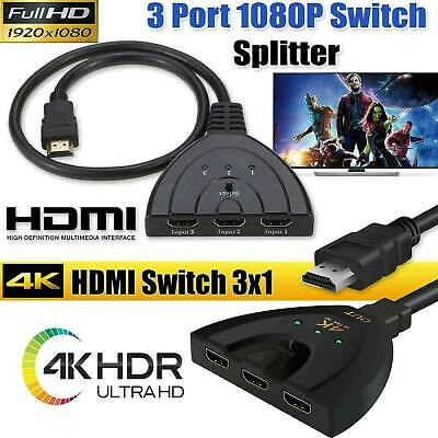3 in 1 out HDMI Multi Display Auto Switch Box Splitter 4K Adapter Cable for HDTV