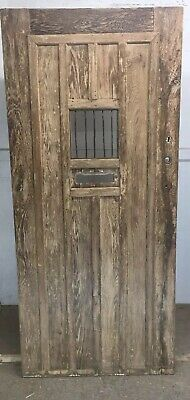 Medieval English Solid Oak Front Door Antique Old Period Wood Reclaimed Iron