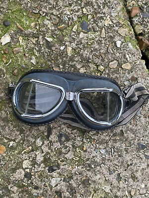 VINTAGE MOTORCYCLE Racing GOGGLES  Excellent Climax Made In Spain