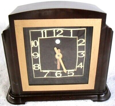 Smith Sectric Art Deco Bakelite Clock - Digital Conversion - Working Condition.