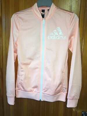 Girls Adidas Pink Sports Joggers/Jacket Zip up Age 13-14 Years New Tags