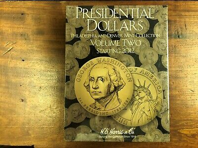 Lot of (6) NEW HE Harris Presidential Dollars Vol #2, P & D Starting 2012 Book