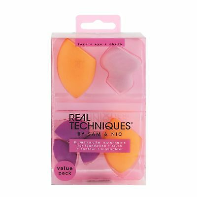 Real Techniques Miracle Complexion Make-Up Sponge, 6-Piece
