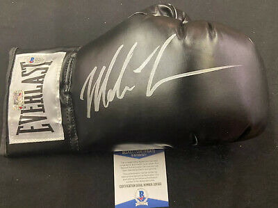 Mike Tyson Signed Autographed Everlast Right Black Boxing Glove Beckett COA 322