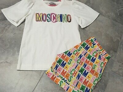 Moschino Top And Shorts Set Age 10 Worn  Once Summer 2019 Rrp £196