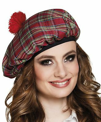 Boland 81227Mr Tartan Beret with Hair Fancy Dress One Size