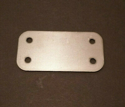 2 x 4 x 16ga inch rectangular flange plate plates steel mounting cover block off
