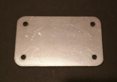 3 x 5 x 16ga inch rectangular flange plate plates steel mounting cover block off