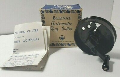 Vintage Bernat Automatic Rug Cutter Instructions Great Britain original box