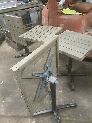 4 Bistro  Wood Square Outdoor Garden Patio Cafe Furniture