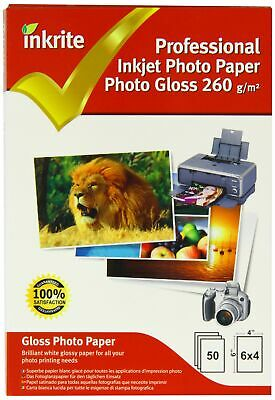 Inkrite PPIPG2606450 PhotoPlus Professional Paper Photo Gloss 260gsm 6x4 (50 ...